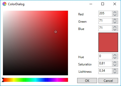 Color dialog in wpf